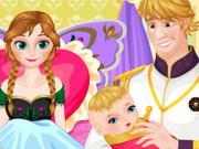 Frozen Anna Baby Birth game