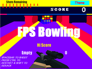 Fps Bowling game