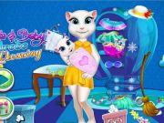 play Angela And Baby Wardrobe Cleaning