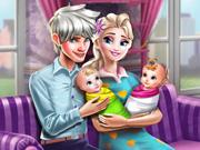 Play Elsa Twins Family Day Game