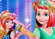 Elsa And Anna Royals Rock Dress game