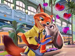 play Judy Hopps And Nick Wilde Love Kiss