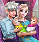 play Elsa And Twins Family Day