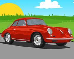 Porsche Cartoon Puzzle game