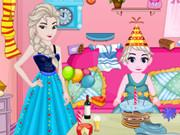 Baby Elsa Birthday Party Cleaning game