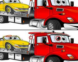 Tow Truck Differences game