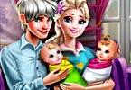 Elsa Twins Family Day game