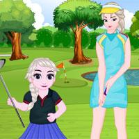 play Elsa And Daughter Golf Fashion
