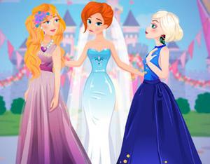 play Barbie And Elsa Bridesmaids Rivals