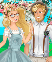 Olivia Hipster Wedding Dress Up game