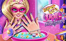Superhero Doll Manicure game