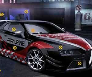 Alfa Romeo Hidden Tires game