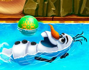 Olaf swimming pool girls for Two player swimming pool games