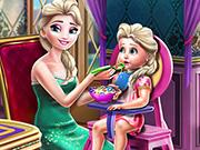play Elsa Mommy Toddler Feed