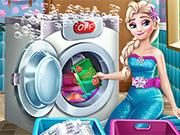 play Ice Queen Laundry Day