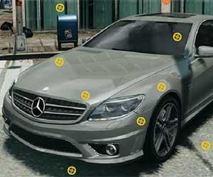 Mercedes Hidden Tires game