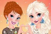 Anna And Elsa Girls Night Out Girl game