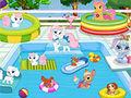 Palace Pets Pool Party game