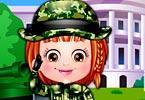 Baby Hazel Defense Officer Dressup game