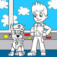 Paw Patrol Coloring game