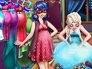 Ladybug And Elsa Pregnant Wardrobe game