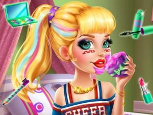 Audrey Cheerleader Real Makeover game