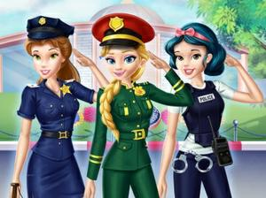 play Disney Girls At Police Academy