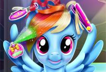 play Rainbow Pony Real Haircuts