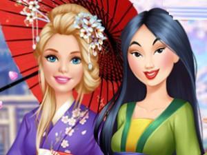 Barbie Visits Mulan game
