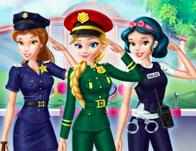 Disney Girls At Police Academy game