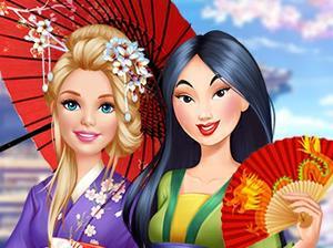 play Barbie Visits Mulan