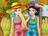 Princesses Working In The Garden game