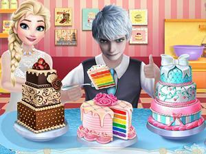play Frozen Princess Wedding Cake Decor