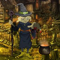 Halloween Witch Forest Escape game