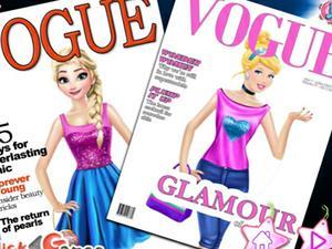 Frozen Princesses Vogue Cover game