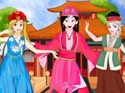 Princesses Chinese Folk Dance game