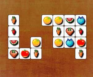 Retro Fruits Connect game