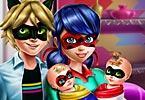 play Ladybug Twins Family Day
