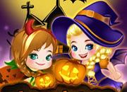 play Elsa And Anna Halloween Story