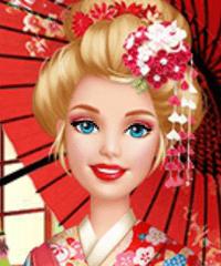 play Barbie Visits Mulan Dress Up Game