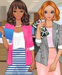 play Office Girls Dress Up Game
