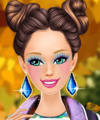 Barbie Holographic Outfits Dress Up Game