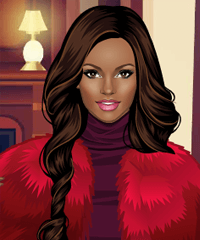 play Faux Fur Queen Dress Up Game