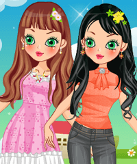 play Spring Flower Style Dress Up Game