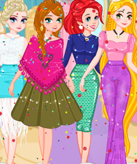 play Princesses Back In Time Dress Up Game