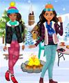 play Elena And Moana Outdoor Winter Party