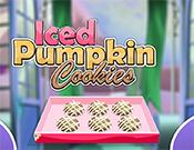 play Thanksgiving Cooking Iced Pumpkin Cookies