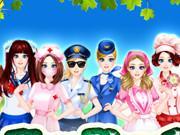 Vocational Girl Dressup game
