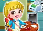 Baby Hazel Receptionist Dressup game