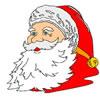 Portrait Of Santa Claus Coloring game